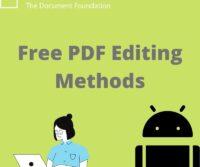 Free PDF Editing Methods
