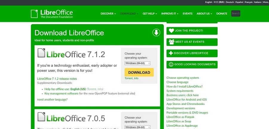 Libre office 7.1.2